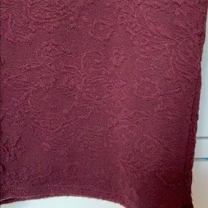 Abercrombie & Fitch Tops - Burgundy long sleep crop L